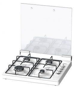 Siemens EB0C2PY80N Vrijstaande 4-Pits Gaskookplaat Wit/Zwart